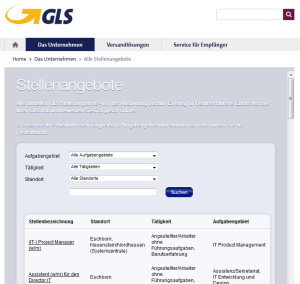 E-Recruiting Software für GLS Germany