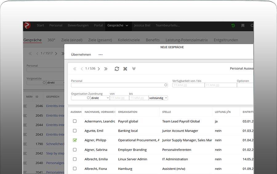 software mitarbeitergespräche | rexx systems