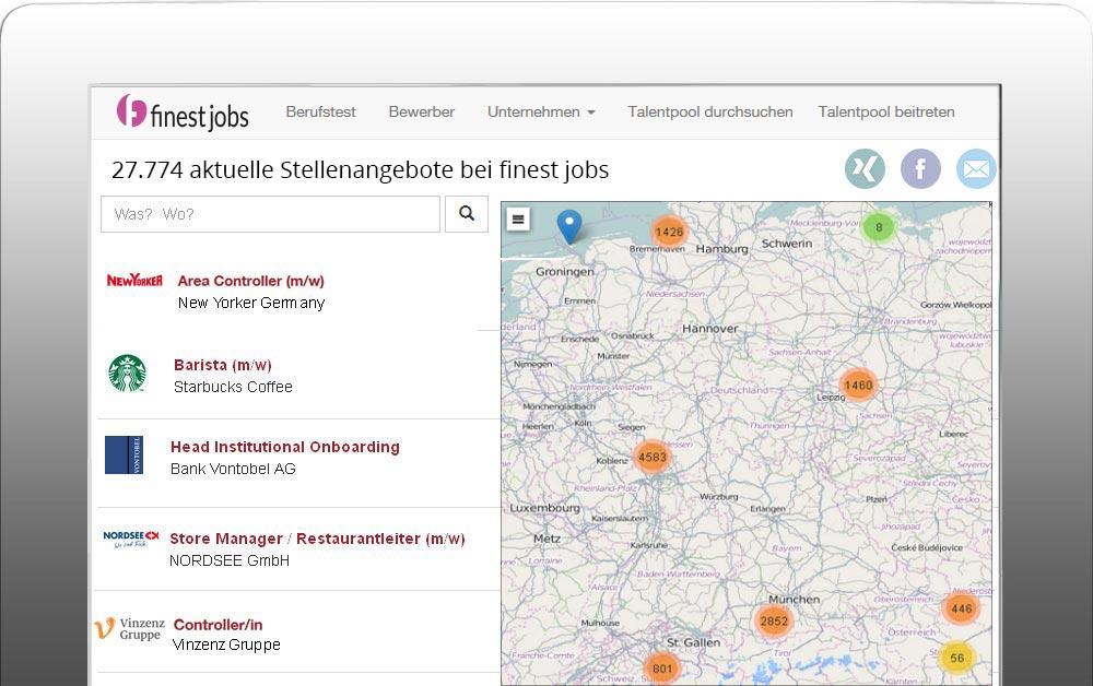 Kostenlose Stellenanzeigen auf finest-jobs.com