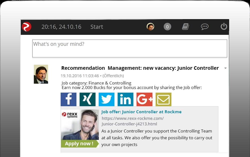 Rekommendationer via portalen för de anställda