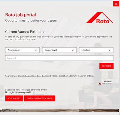 Roto Jobportal