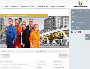Career portal of Stadtreinigung Hamburg