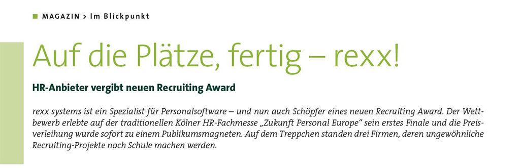rexx recruiting award