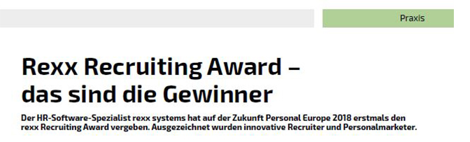hr performance recruiting award