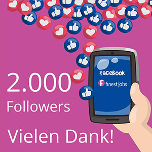 Wow! 2000 Follower auf finest jobs!
